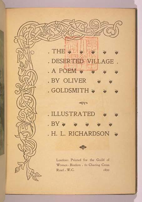 oliver goldsmith s the deserted village